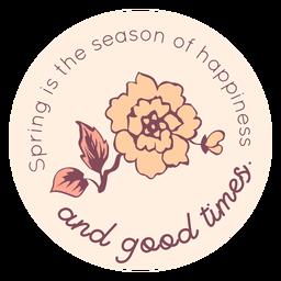 Temporada de primavera do distintivo de felicidade