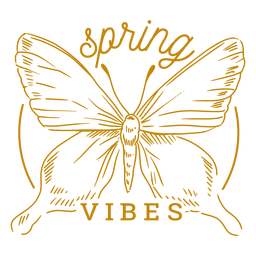 Spring vibes badge