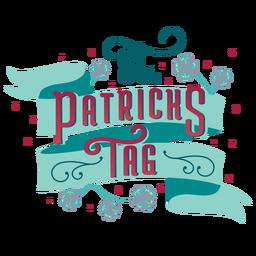 St patricks day german lettering