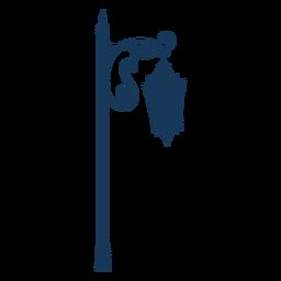 Street lamp vintage blue