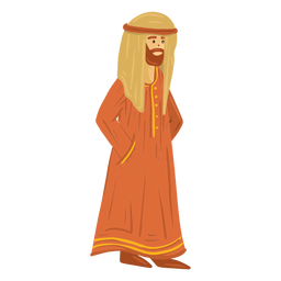 Traditional arab man character