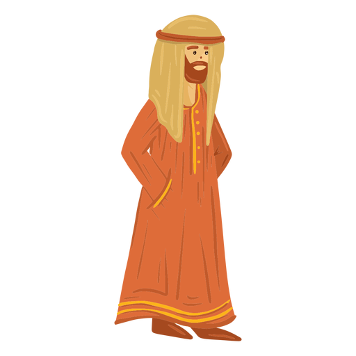 Traditional arab man character