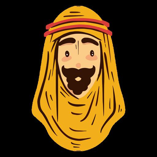Traditional arab man head