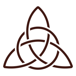 Trinity knot triquetra