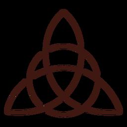 Triquetra nudo trinidad