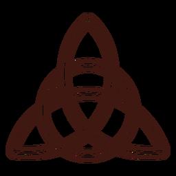 Trazo triquetra nudo trinidad