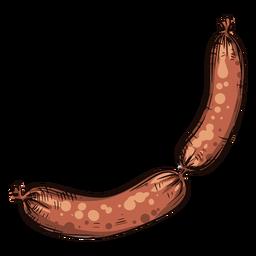 Ilustración de dos salchichas