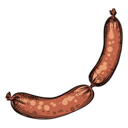 Two sausages illustration