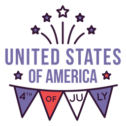 United states 4th of july badge