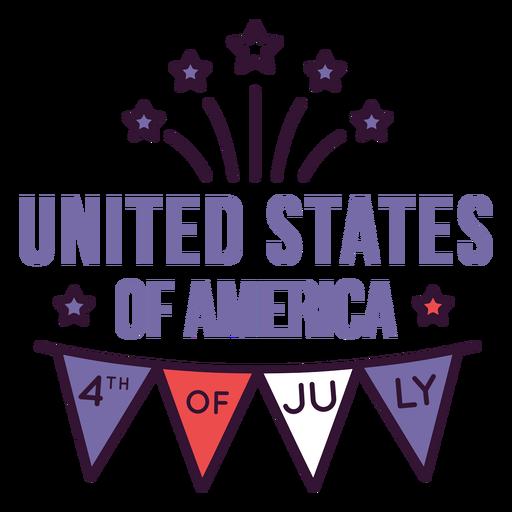Insignia del 4 de julio de estados unidos