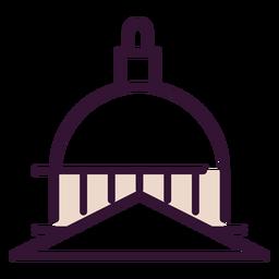 United states capitol dome icon