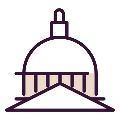 United states capitol dome icon Transparent PNG
