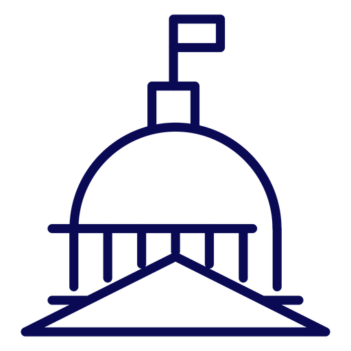 United states capitol dome stroke Transparent PNG