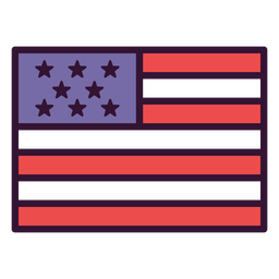 Icono de la bandera de estados unidos