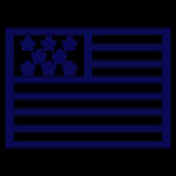 United states flag stroke