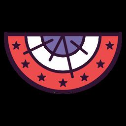 Icono de escarapela de estados unidos