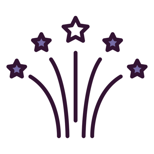Usa fireworks icon Transparent PNG