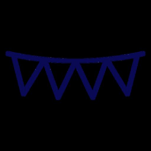 Usa pennants stroke Transparent PNG
