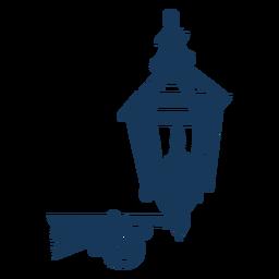 Farola clásica vintage azul