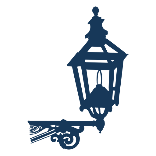 Farola clásica vintage azul Transparent PNG