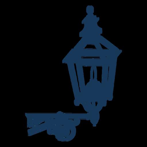 Vintage classic post lamp blue Transparent PNG