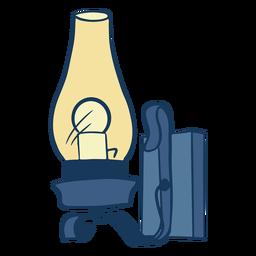 Lanterna de vidro curvo vintage