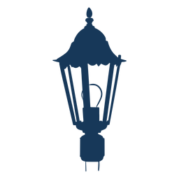 Farola eléctrica vintage azul