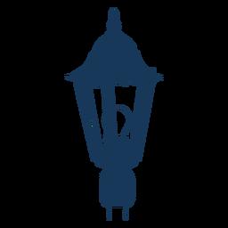 Vintage electric street lamp blue