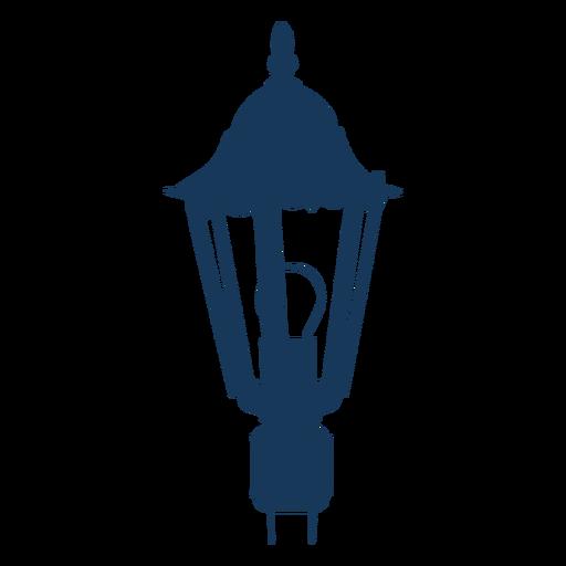 Farola eléctrica vintage azul Transparent PNG