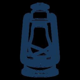 Vintage gas lantern blue