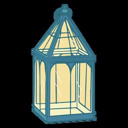 Vintage glass lantern