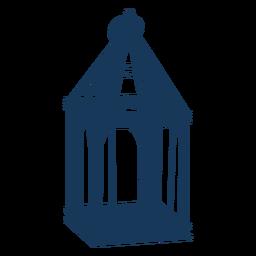 Lanterna de vidro vintage azul