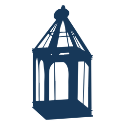 Vintage glass lantern blue