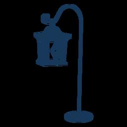 Vintage hanging lantern blue