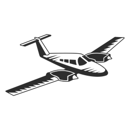 Avião a jato vintage preto e branco