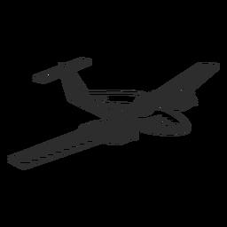 Avión jet vintage en blanco y negro