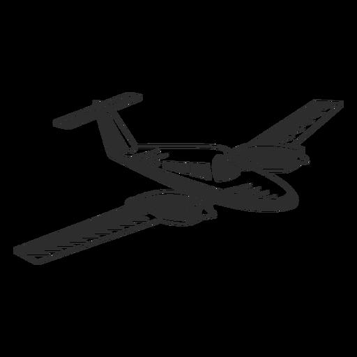 Avión jet vintage blanco y negro