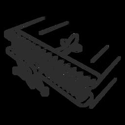 Avião leve vintage preto e branco