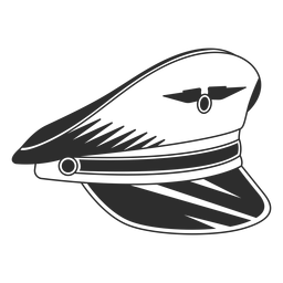 Gorra piloto vintage blanco y negro