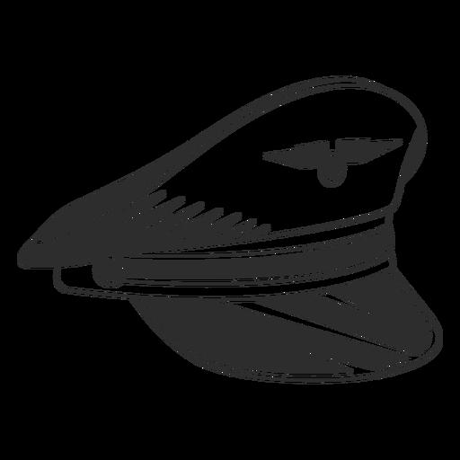Vintage pilot cap black and white