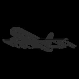 Avião vintage preto e branco