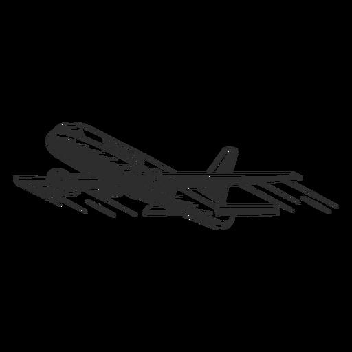 Vintage plane black and white Transparent PNG