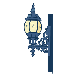 Vintage post lamp