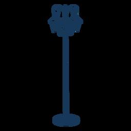 Vintage street lamps blue