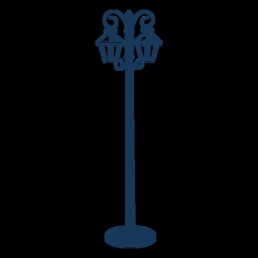 Farola vintage azul Transparent PNG