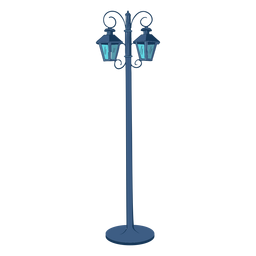 Vintage street lamps illustration