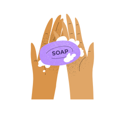 Washing hands illustration