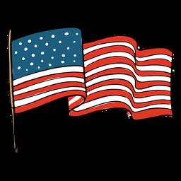 Ondeando la bandera de la bandera americana