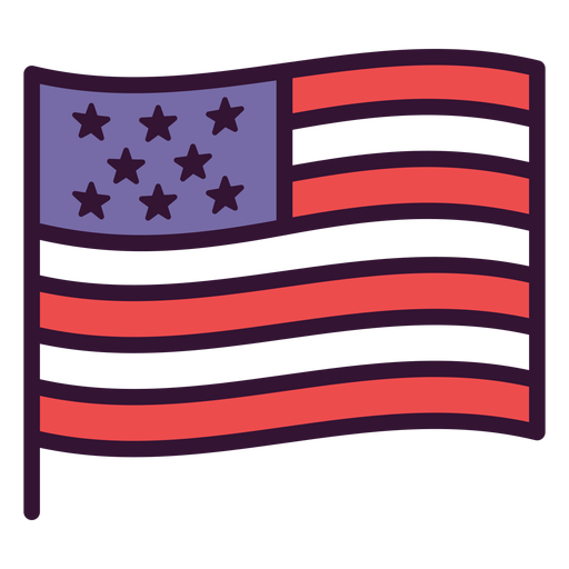 Waving united states flag icon