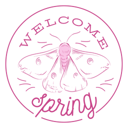 Welcome spring badge